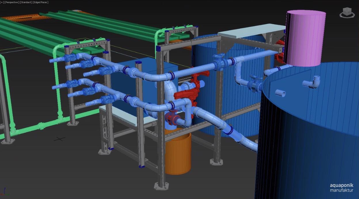 Universelle Aquaponik-Forschungsanlage für die Forschung an der Aquaponik